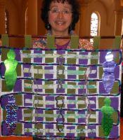 Sandra Samaniego-Green/Purple Mixed Media