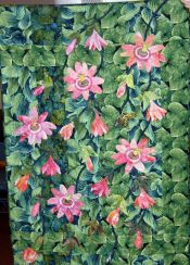 Marilyn Korn-Passion Flowers-applique, embroidery, handquilted and pieced