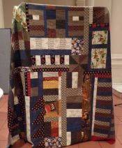Irene Silver - Improvised Flannel Quilt