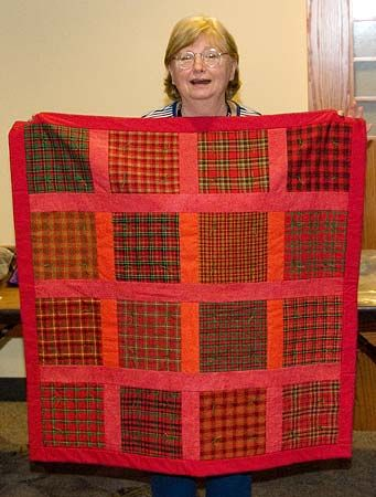 Red Plaid Lap Quilt