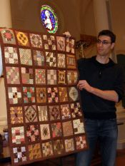Marilyn Lutzker-Mother's Quilt-All hand made; during boring visit