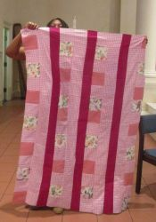 "Patricia Jones - Charity Quilt Top - ""Spring Pinks"""