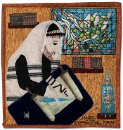 Rabbi, Synagogue, Torah - Detail from Traditions by Roz Manor