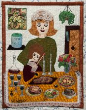 Shabbat - Detail from Traditions by Roz Manor