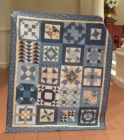 Blue and Tan Quilt