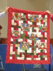 Christmas Quilt with Teddy Bears