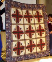 Lisa Kehrle-Log Cabin Variation-Her first show quilt