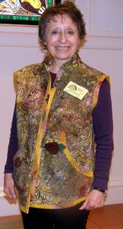 Peggy McGeary-Vest in Batiks from India