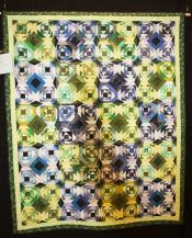 "Mindy Wexler Marks - ""Pineapple Splash for Jeremy"" - Large Pieced Quilts"