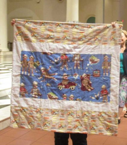 Charity Quilts with Monkeys