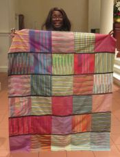Square Striped Quilt