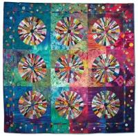 Best Use of Color and 3rd Prize - Pieced (Hand Quilted, Bed Size)