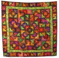 1st Prize - Pieced, Machine Quilted, Bed Size