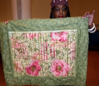 Sandi Howell-Madame Pompador's Hanging Garden-Quilters of color Challenge 2012