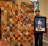 Betty Belford Scrap Quilt with Reproduction Fabrics