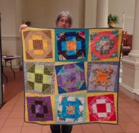 Claire Surovell - Churn Dash Charity Quilt