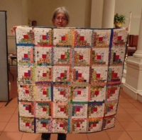 Claire Surovell - Log Cabin Baby Quilt for Charity