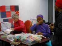 Maggie Gordon, Rita Reid, Juliana Kaloo, City Quilter Night