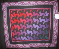 "Janice Ewing - ""Tessellating Tabbies"" - Large Pieced Quilt"