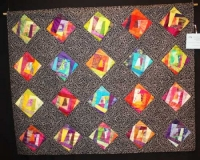 "Diane Harris ' ""Black, White and Color"" - Large Pieced Quilts"