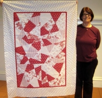 Judy Stadler-Red and White Quilt Top