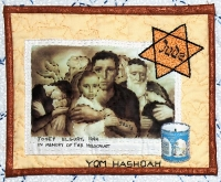 Yom Hashoah - Detail from Traditions by Roz Manor