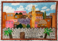 Yom Yerushalayim - Detail from Traditions by Roz Manor