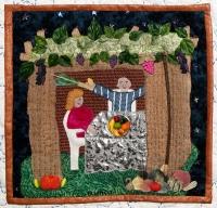 Sukkot - Detail from Traditions by Roz Manor