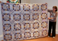 Jane Adler-Charity Quilt-twin floral quilt