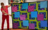 Karen Monath-Purple & Blue Charity Quilt