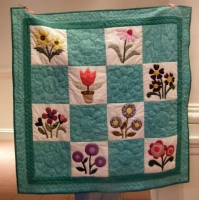 Janet Comerford & Diane Paul-By 2 Hands, a hand appliqued and hand quilted quilt