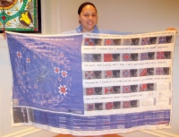 Deimosa Webber-Bey-Maker Known-This data quilt visualizes the research done on Gracie Mitchell, a quilter interviewed by the WPA in 1938