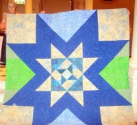 Mary Butler-Follow Your Star-Queen quilt for a cousin's just married daughter-her chosen colors