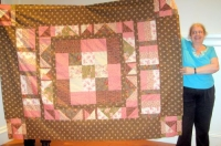 Karen Sternberg-Charity Quilt-Romantic Florals, Old and New