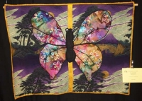 "Deloris Frazier - ""Black Butterfly"" - Large Appliqued Quilts"