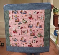 Kate Iscol - Wheelchair Quilt - Kats and Kittens