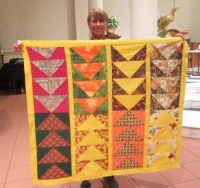 Karen Monath - BOM Flying Geese Charity Quilt