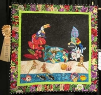 "Alice Palmer - ""Betty Boop Goes to Hawaii"" - Art Quilts"