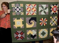 """I finally finished the quilt!"""