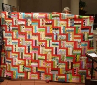 Claire Surovell - Rail Fence Quilt Top for Charity