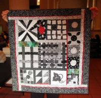 "Valerie Turer - Quilt - ""Black and White Studies"""