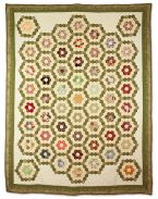 108: #6 - Traditional Hexagon Quilt by Mindy Wexler-Marks