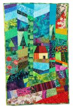 328: House in a Patchwork Garden by Judith Hoffman Corwin