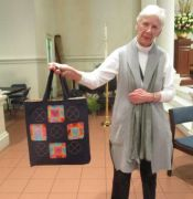 "Helen Beall -""Throw Down"" Indigo Tote Bag"