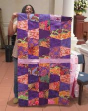 "Patricia Jones - Charity Quilt Top - ""Purple Passion"""