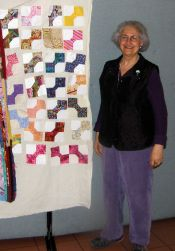 Sara Niego and the Bow Tie Blocks she won.  The Strips were won by Marian Webber.