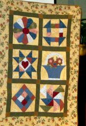Lisa Kehrle-Her First Quilt-Class sampler