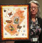 "Beth Pile - Wall Quilt - ""Flying Free"""