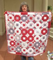 Claire Surovell - Red & Grey Quilt
