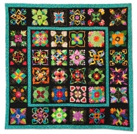3rd Prize - Applique, Professionally Quilted, Small